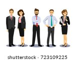 business team  group of... | Shutterstock .eps vector #723109225