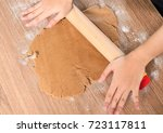 dealing with gingerbread start... | Shutterstock . vector #723117811