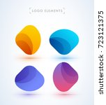 vector abstract logo elements.... | Shutterstock .eps vector #723121375
