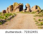 Dirt Road Through City Of Rocks