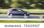 car driving fast motion on... | Shutterstock . vector #723125527
