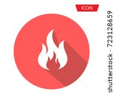 fire vector icon isolated on... | Shutterstock .eps vector #723128659