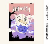 happy halloween poster. vector...   Shutterstock .eps vector #723137824
