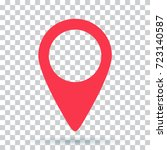pin map navigation localization ... | Shutterstock .eps vector #723140587
