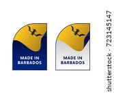 stickers made in barbados.... | Shutterstock .eps vector #723145147