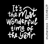 it's the most wonderful time of ... | Shutterstock .eps vector #723148129