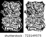 black and white graphic... | Shutterstock .eps vector #723149575