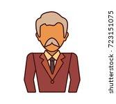 old businessman vector...   Shutterstock .eps vector #723151075
