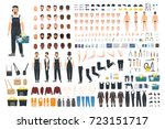 technical worker creation kit.... | Shutterstock .eps vector #723151717