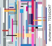 geometric multicolored pattern... | Shutterstock .eps vector #723162247