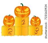 halloween pumpkin   Shutterstock .eps vector #723163924