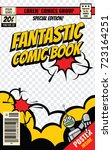 comic book cover vector... | Shutterstock .eps vector #723164251