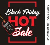 black friday banner. vector... | Shutterstock .eps vector #723166099