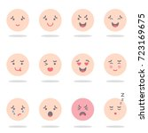 vector illustration  set of... | Shutterstock .eps vector #723169675