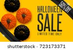 design banner autumn sale.... | Shutterstock .eps vector #723173371