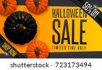 design banner autumn sale.... | Shutterstock .eps vector #723173494