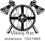 viking axe of scandinavian... | Shutterstock .eps vector #723174805