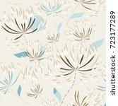 vector seamless pattern  floral ... | Shutterstock .eps vector #723177289