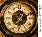 time concept   vintage clock... | Shutterstock . vector #72318067