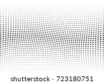 abstract halftone wave dotted... | Shutterstock .eps vector #723180751
