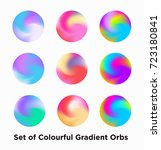 liquid color covers set. fluid... | Shutterstock .eps vector #723180841