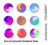 liquid color covers set. fluid... | Shutterstock .eps vector #723180847