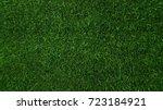 green grass of soccer top view...   Shutterstock . vector #723184921