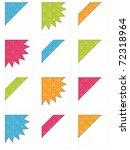 bright embossed corner ribbons... | Shutterstock .eps vector #72318964