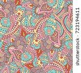 vector seamless elegant lace... | Shutterstock .eps vector #723194611
