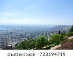 Panorama Of Haifa And View Of...
