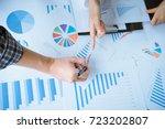 asian business adviser meeting... | Shutterstock . vector #723202807