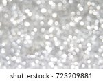 Silver White Bokeh Abstract...