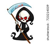 grim reaper cartoon character... | Shutterstock .eps vector #723214039
