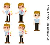 vector set of male characters... | Shutterstock .eps vector #723217579