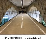 Wonderful suspended road under the Adolphe bridge in Luxembourg city