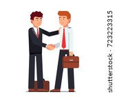 business man shaking hands... | Shutterstock .eps vector #723223315