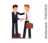 business man shaking hands... | Shutterstock .eps vector #723223315