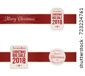 christmas festive banners with... | Shutterstock .eps vector #723224761