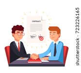 business man partnership... | Shutterstock .eps vector #723226165