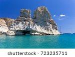 kleftiko  milos island ... | Shutterstock . vector #723235711