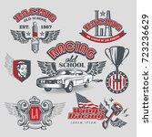 set of race legends logos  old... | Shutterstock .eps vector #723236629