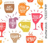 vector hand drawn seamless... | Shutterstock .eps vector #723237949
