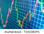 world economics graph.... | Shutterstock . vector #723238291