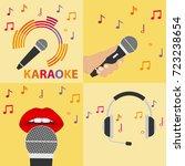 karaoke microphone  microphone... | Shutterstock .eps vector #723238654