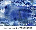 hand made watercolor wash...   Shutterstock . vector #723239707