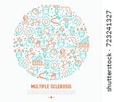 multiple sclerosis concept in... | Shutterstock .eps vector #723241327