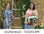 charming girls girlfriends... | Shutterstock . vector #723241399