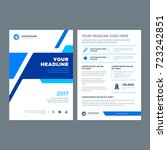 blue brochure annual report... | Shutterstock .eps vector #723242851