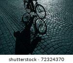 Dark Urban Cyclist  On His Way...
