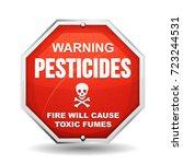 warning pesticide danger ... | Shutterstock .eps vector #723244531
